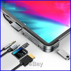 USB Hub HDMI Type C Pro Docking Station Card Reader 6 Ports MacBook iPad Pro