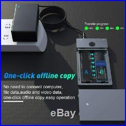 USB Type C 10G to NVME Dual-Bay NVME Docking Station Dual Bay M. 2 NVMe SSD Enclo