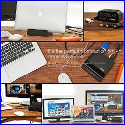 Universal Docking Station Dual Video Monitor Display DVI & HDMI MIC USB LAN