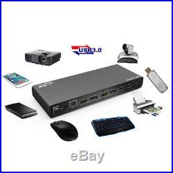 Universal USB-C Ultra 5K Charge Dock Station Dual Video HDMI for Mac Win10 Wu