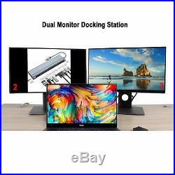 Universal Usb C Docking Station For Windows, Dual Monitor Docking Station Hdmi
