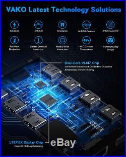 VAKO 12 Ports Docking Station USB C Hub Triple-Display USB C Adapter with DUAL C