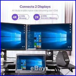 VAVA USB C Docking Station with 4K Dual Display, 120W Power adapter, 2 x HDMI Po