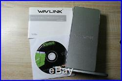 WAVLINK Aluminum USB 3.0 / USB C Ultra 5K Universal Docking Station (HP3324)