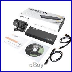 WAVLINK USB-C Universal 5K Docking Station Dual Display 4K Video Audio Output