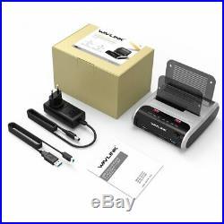 Wavlink 2.5 3.5 inch USB 3.0 SATA Dual-Bay Hard Drive Docking Station w Offline