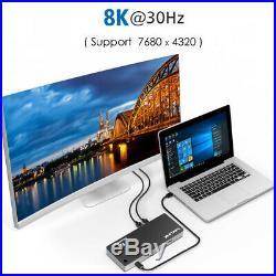 Wavlink Thunderbolt 3 USB-C 8K Docking Station 60W Charging Dual DisplayPort 1.4