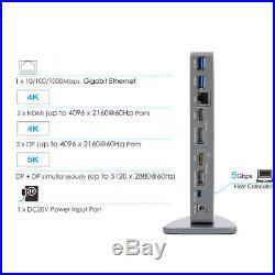 Wavlink USB C Dock, Ultra 5K HD Multiple Display Universal Docking Station