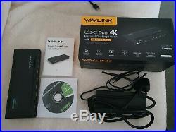 Wavlink USB C Dual 4K Docking Station, Single 5K/ Dual 4K @60Hz Video Outputs