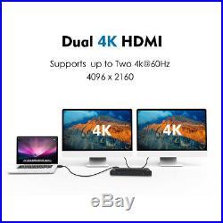 Wavlink USB-C Dual 4K Universal Docking Station, Docks Support 5K HDMI&DP Windows
