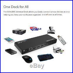 Wavlink USB-C Ultra 5K Docking Station Dual 4K Video Output For HDMI&Displayport