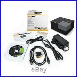 Wavlink Universal USB 3.0 Dual Video Docking Station with DVI / HDMI/ USB Hub &