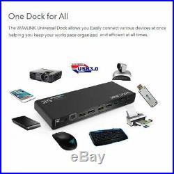 Wavlink Universal USB-C/USB 3.0 Ultra 5K Laptop Docking Station WL-UG69DK1