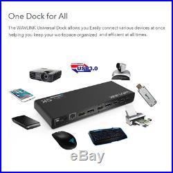 Wavlink Universal USB-C/USB 3.0 Ultra 5K Laptop Docking Station with 4K Dual for