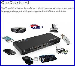 Wavlink Universal USB-C Ultra 5K Docking Station With 4K Dual Video Outputs And