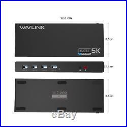 Wavlink Universal USB-C Ultra 5K Docking Station with 4K Dual Video. 2DAY SHIP