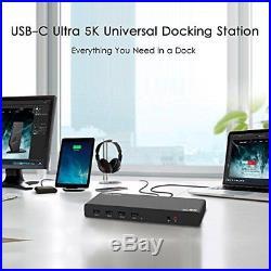 Wavlink universal USB C Ultra 5K docking station dual 4K dock video outpu. P/O
